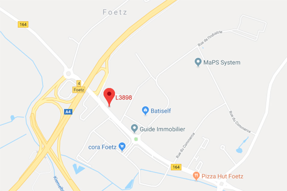 Carte de situation de Mevengreen - 2 rue du Brill, L-3898 Foetz LUXEMBOURG